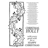 Woodware Holly Panel clear stamp set