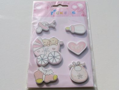Pink Baby Card Embellishments