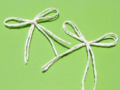 Cream Twine Bows