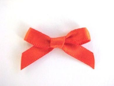Satin Bows Orange