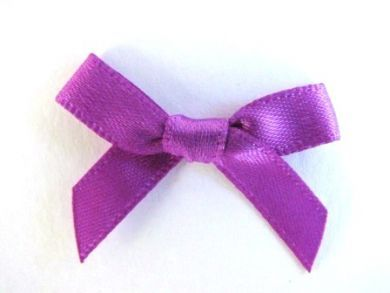 Satin Bows Purple