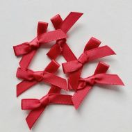 Satin Bows Red