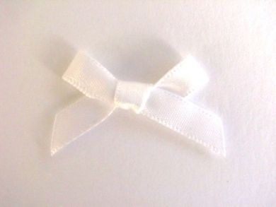 Satin Bows White