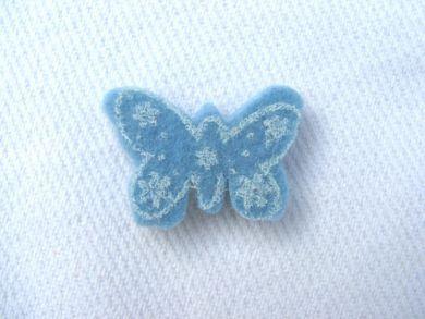 Blue Felt Butterfly