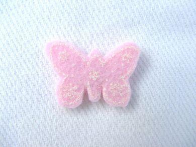 Pink Felt Butterfly
