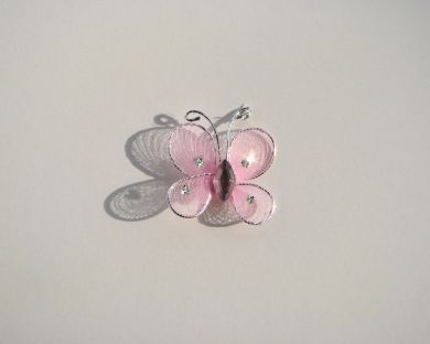 Pink Mesh Butterfly