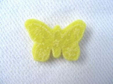 Yellow Felt Butterfly