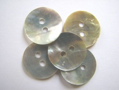 15mm Shell Buttons Mother of Pearl