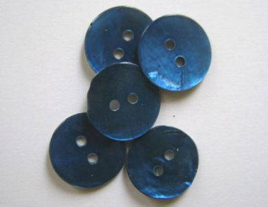 Shell Buttons Blue