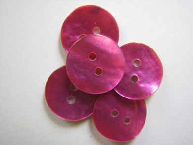 15mm Shell Buttons Cerise