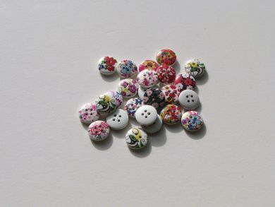 Floral Painted Buttons
