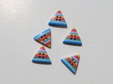 Triangular Striped Button Bright