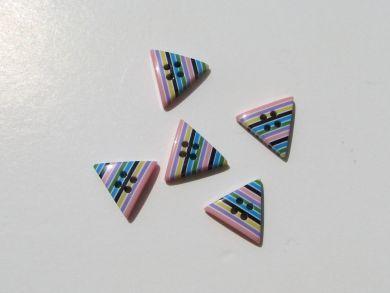 Triangular Striped Button Pastel