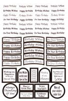 Die Cut Birthday Messages Gold
