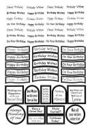 Die Cut Birthday Messages Silver