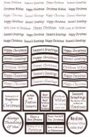 Die Cut Christmas Greetings White/Silver