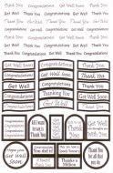 Die Cut Greetings and Sentiments Silver