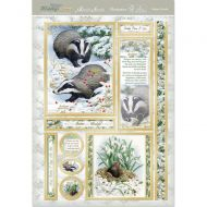 Woodland Winter Badger and Mole Card Topper Set