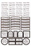 Die Cut Birthday Messages Gold