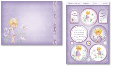 Flower Girl Die Cut Card Topper