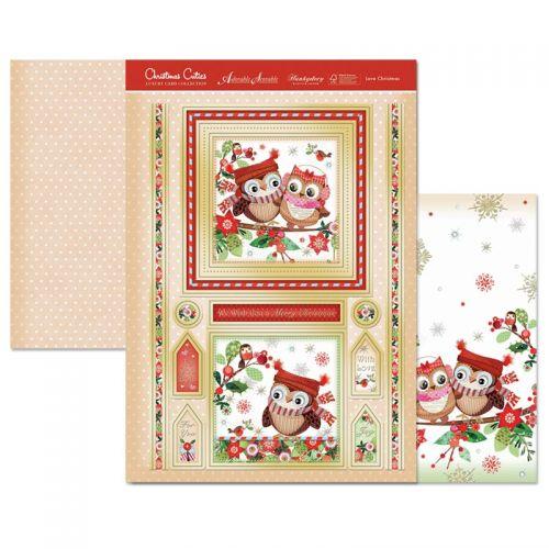 Love Christmas Card Topper Set