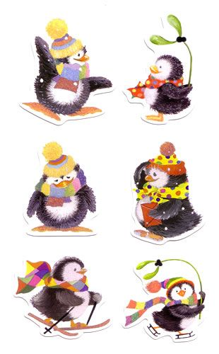 Penguin Christmas Card Toppers