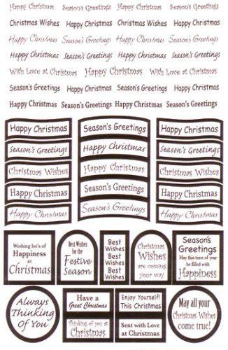 Die Cut Christmas Greetings White/Silver