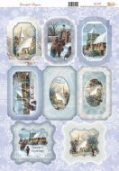 Snowfall Christmas Die Cut Topper Sheet