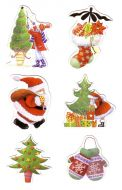 Traditional Die Cut Christmas Card Toppers