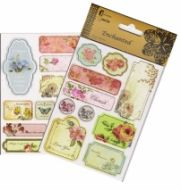 Vintage Chipboard Sticker Sheet