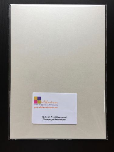 A4 Champagne Pearlescent Card