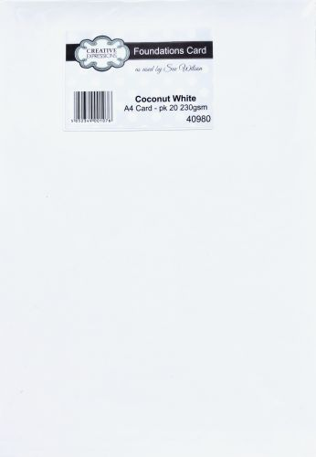 A4 Foundation Card Coconut White