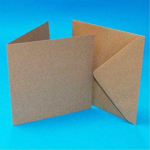 5 x 5 Inch Kraft Card and Envelope Bulk Pack