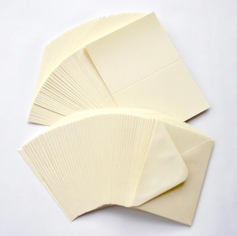 5 x 7 Ivory Blank Cards and Envelopes