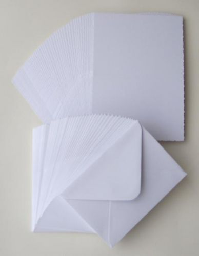 5 x 7 White Blank Cards and Envelopes