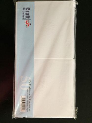 6 x 6 White Blank Cards and Envelopes Bulk Pack