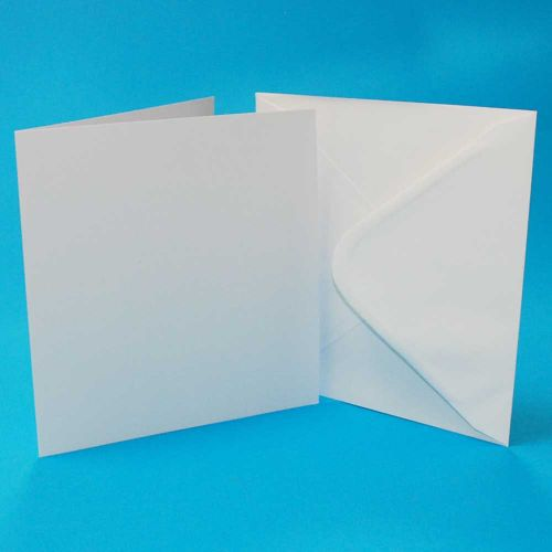 7 x 7 Inch White Card and Envelope Bulk Pack