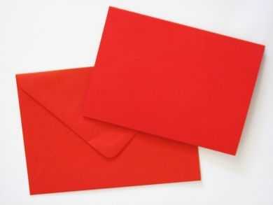 A6 Red Blank Cards and Envelopes