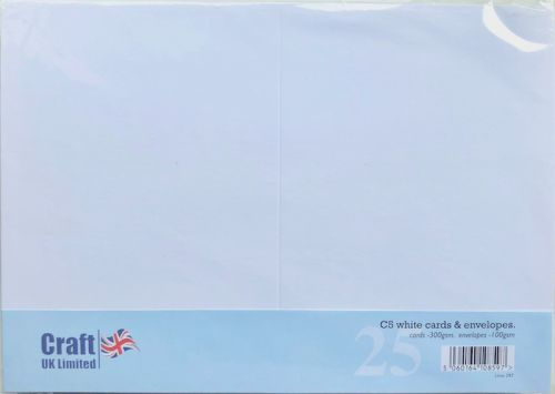 A5 White Blank Cards and Envelopes Bulk Pack