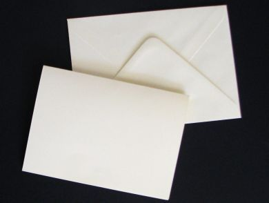 A6 Cream Blank Cards and Envelopes