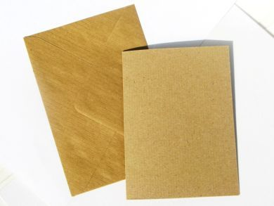A6 Kraft Blank Cards and Envelopes