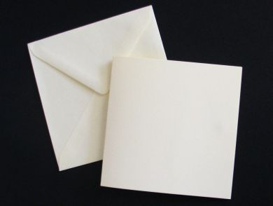 12.5cm Square Cream Blank Cards and Envelopes