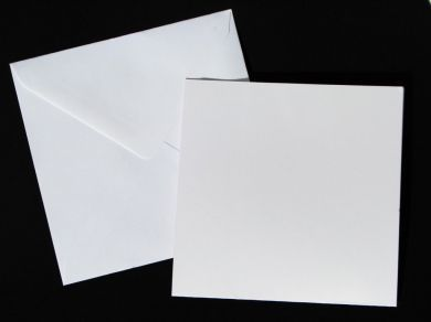 15cm Square White Blank Cards and Envelopes