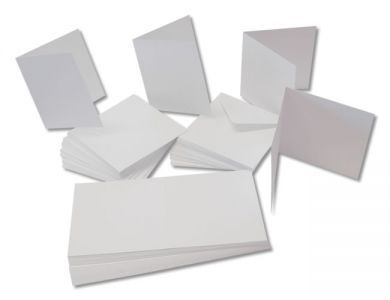 White DL Blank Cards and Envelopes