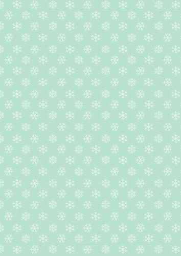 Snowflakes Aqua