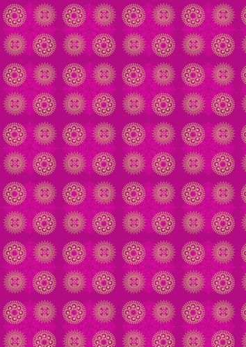 Indian Circles Pink Background Paper