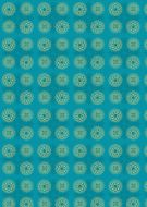Indian Circles Turquoise Background Paper