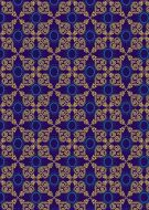 Indian Gold and Blue Shapes Background Paper