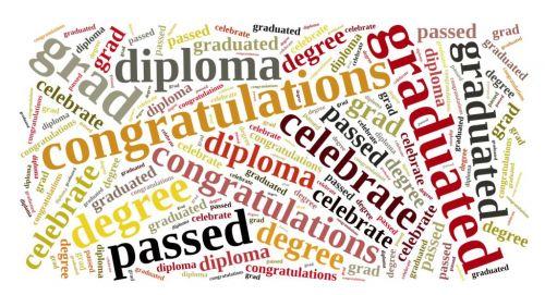 Graduation Wordcloud Background Paper
