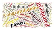 Graduation Wordcloud Background Paper